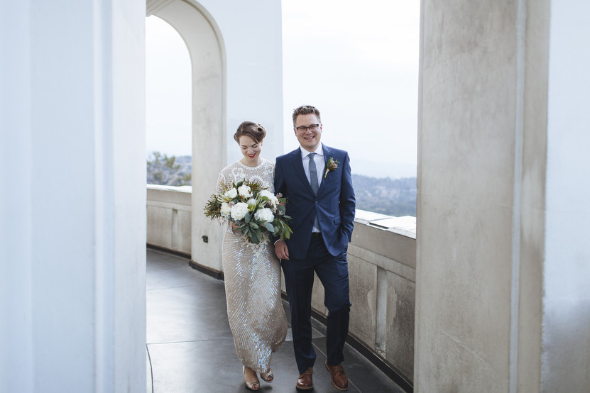 Jane + Adam Griffith Observatory Elopement